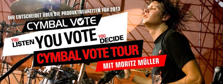 Moritz Müller - Cymbal Vote Tour am 25.11. bei DRUMS ONLY in Koblenz