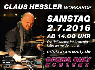CLAUS HESSLER am 02.07.2016  bei DRUMS ONLY in Koblenz